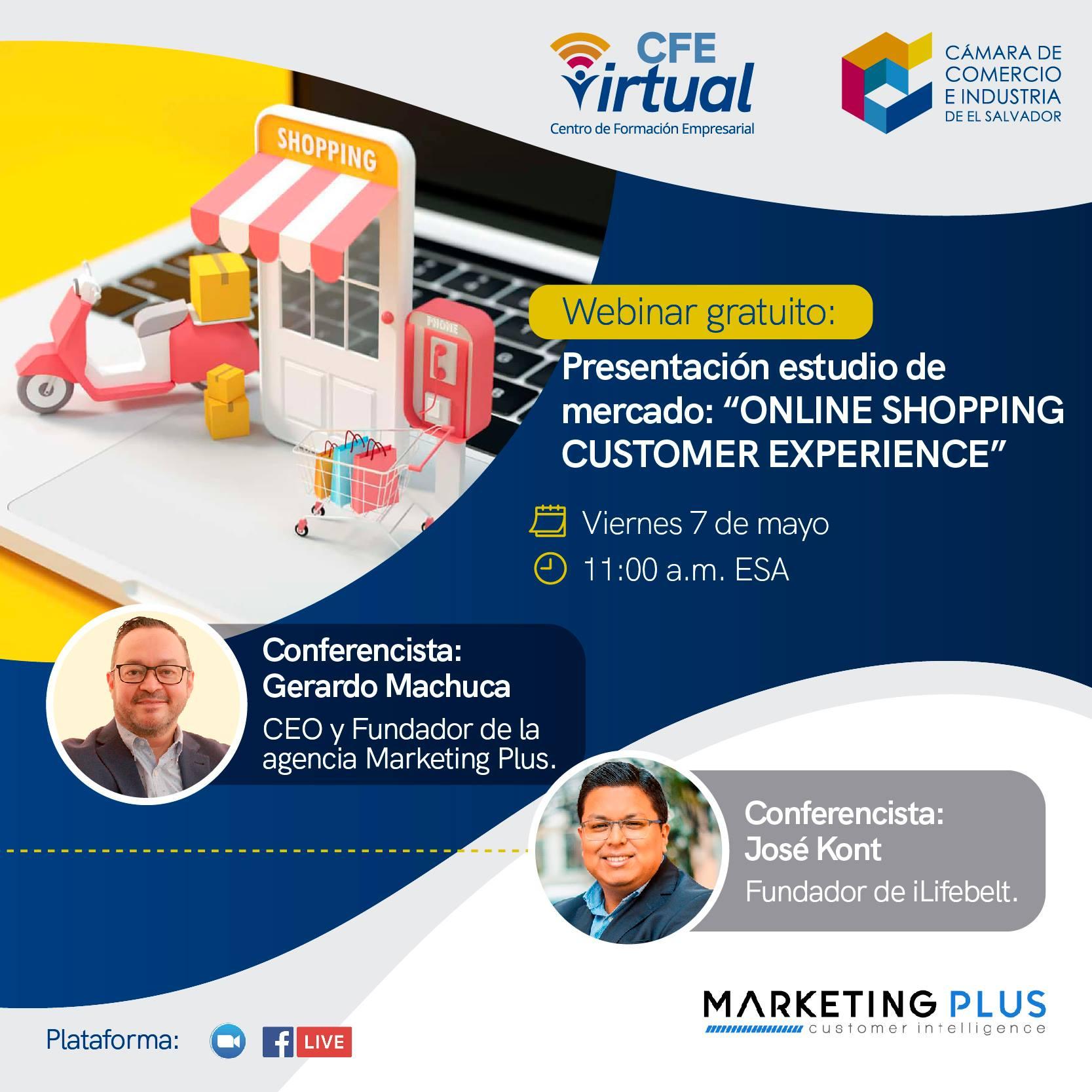 Online customer experience shopping El Salvador