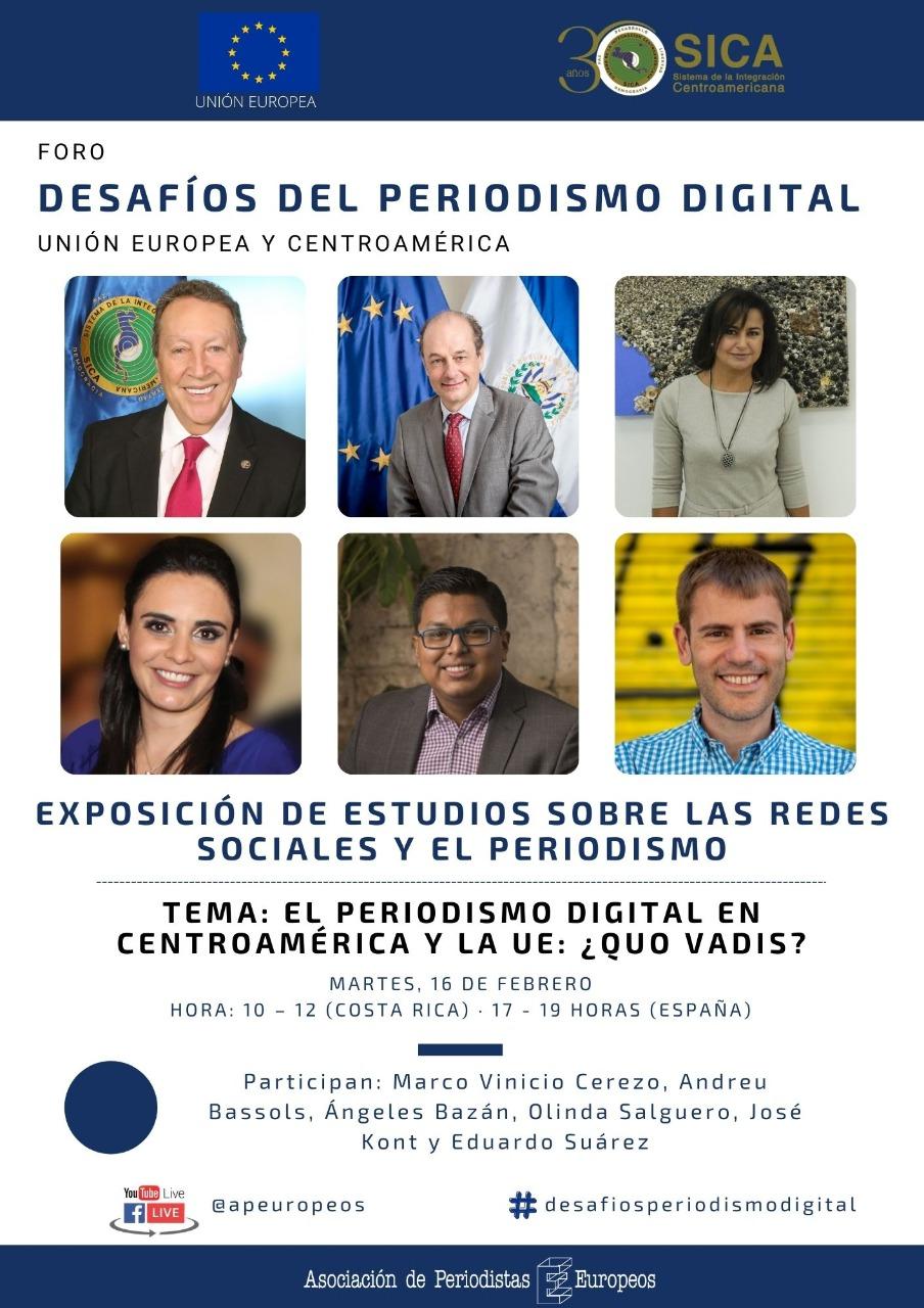 Foro Desafios del periodismo Digital en Centroamerica